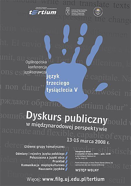 Plakat konferencyjny Język trzeciego tysiąclecia V